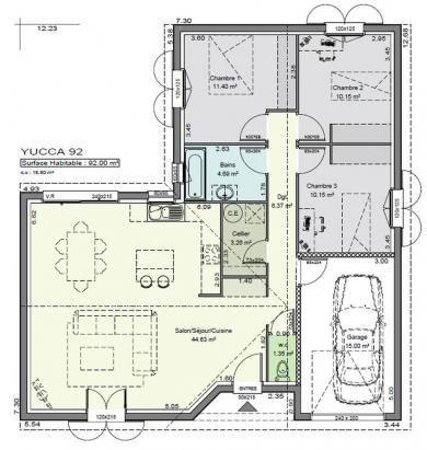 Plan de villa biarritz villas c t sud construction de for Plan de maison cote