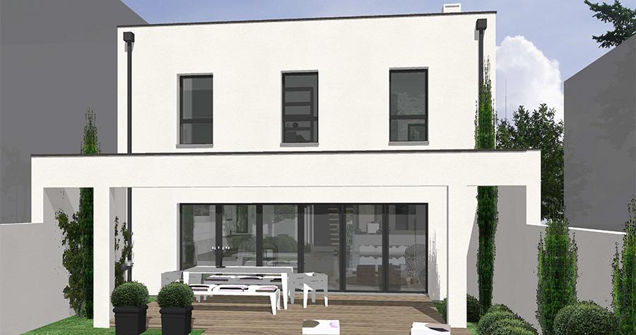 Plan villa gardenia villas c t sud constructeur de villas for Plan de conception de villa