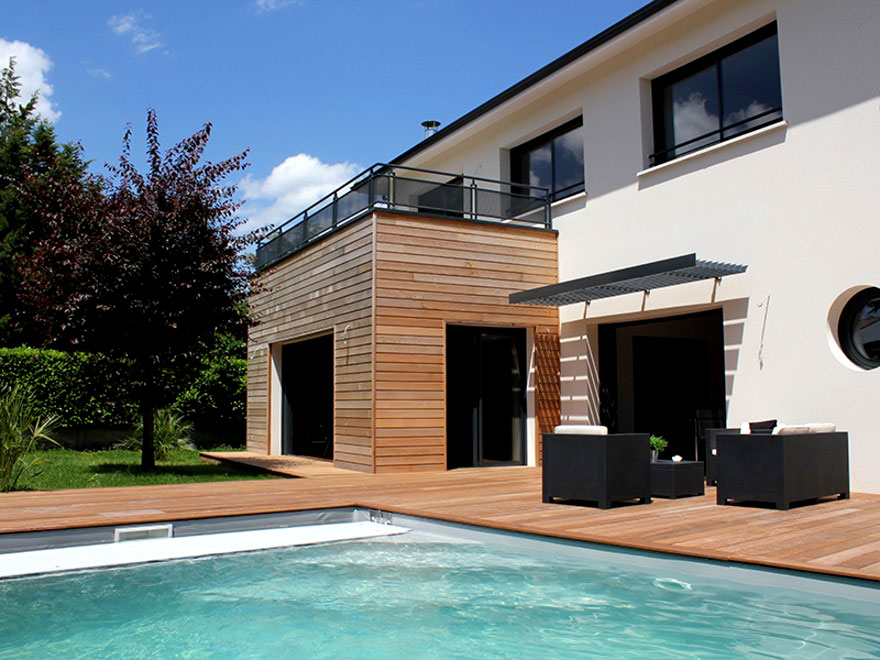 Constructeur de villas contemporaines gard h rault for Construction en bois herault