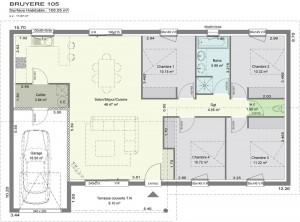 plan de villa lavande villas c t sud constructeur de. Black Bedroom Furniture Sets. Home Design Ideas